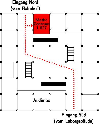 Lageplan Mathematikzentrum